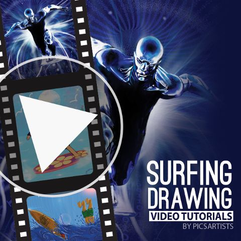 surfing drawing video tutorials