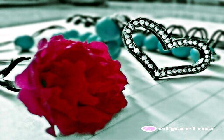 love heart bracelet flower valentine