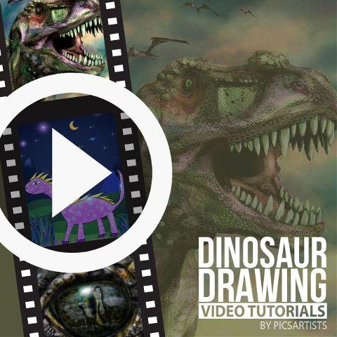 dinosaur drawing time lapse video