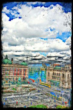 colorful travel urban spring art