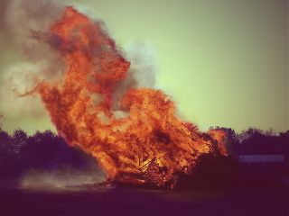 fire easter vintage photography