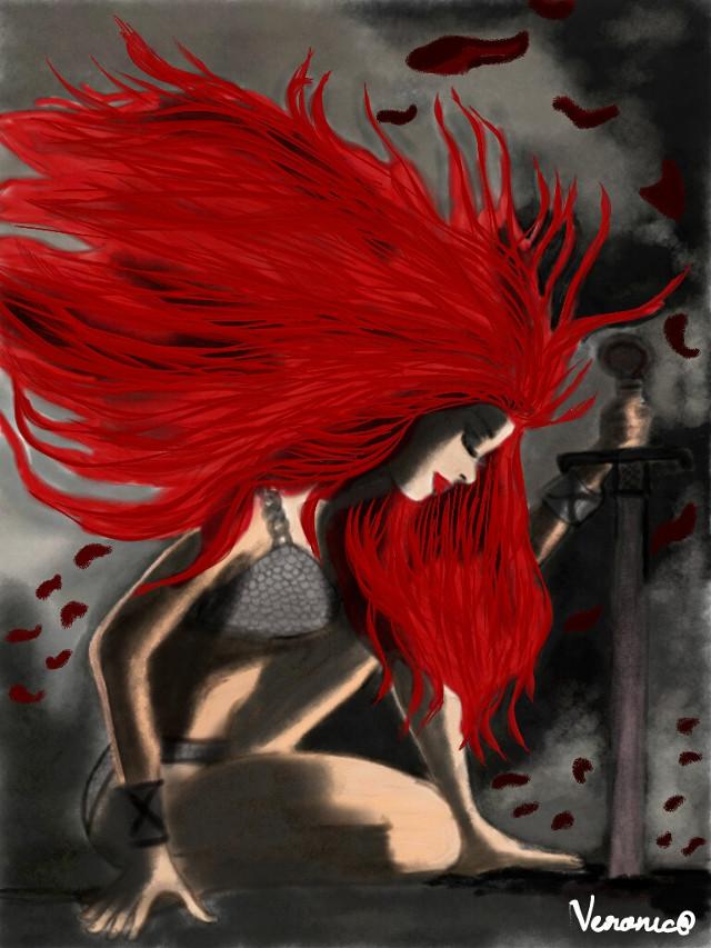 I made the warrior girl art 😆 #DCamazonwarrior
