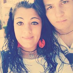 friend sun longhair eyes selfie