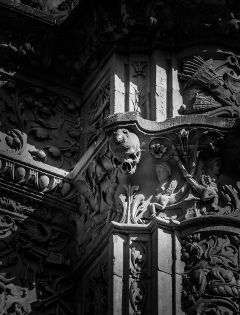 black & white salamanca spain art photography
