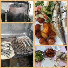 fish seafood sardines grill bbq