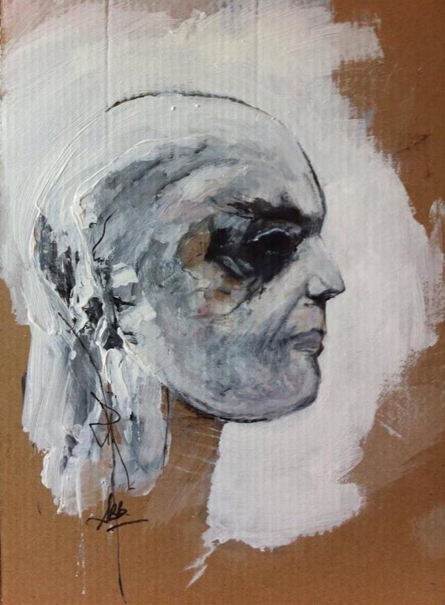 Cardboard#profil#painting#Expo#lyon#2012