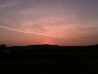 sky sunset autumn landscape