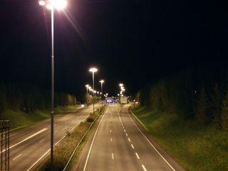 photography night finland highway travel