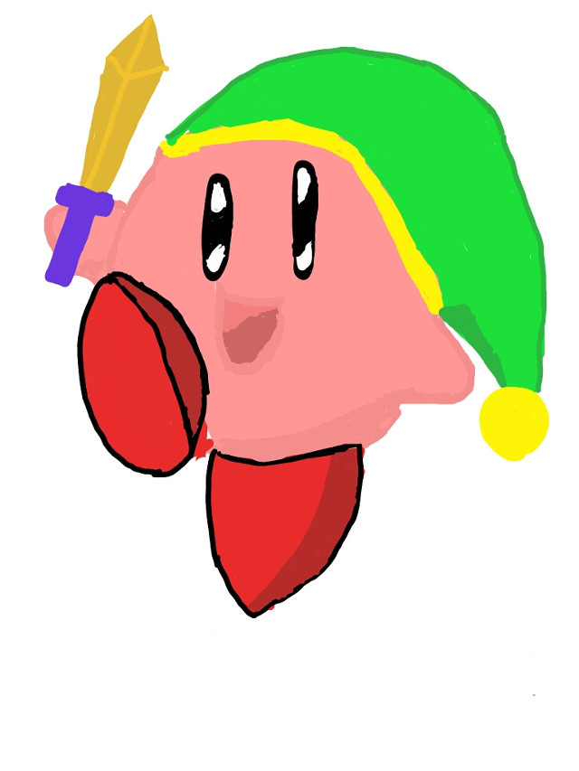 The sword version of Kirby! I hope you enjoy! #retro #smashbrothers #link #nintendo #kingdedede #kirby