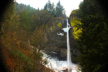 waterfall rainyday oregon northwest photography