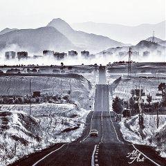 blackandwhite landscape monochrome travel cars