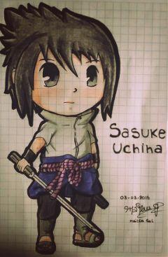 sasuke chibi dibujo drawing